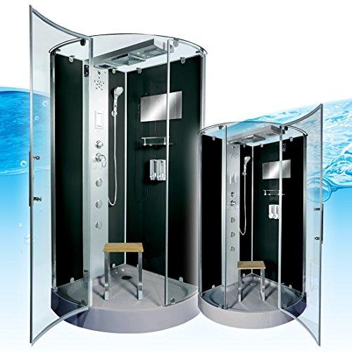AcquaVapore DTP6037-4302 Dusche Dampfdusche Duschtempel Duschkabine 100x100, EasyClean Versiegelung:JA mit 2K Scheiben Versiegelung
