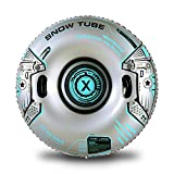 XFlated Iron Snow Tube, 48 inches Heavy Duty Inflatable Snow Tube Sled, Robot Snow Sled and Snow Toy for Adults or Kids
