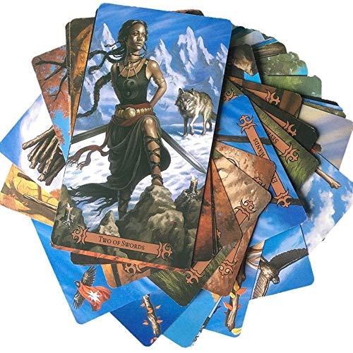 duhe189014 Las Cartas del Tarot del Lanzador De Hechizos: Una Guía para La Lectura Psíquica del Tarot, Los Significados Reales De Las Cartas del Tarot, 78 Piezas Modernas