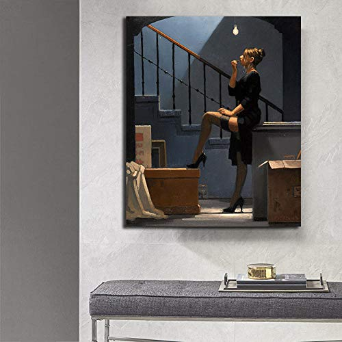EWiESHU Jack Vettriano Portrait Oil Painting Printed Canvas Poster and Print Wall Pictures Artwork Home Decor Cuadros for Living Room 50x70cm No Frame