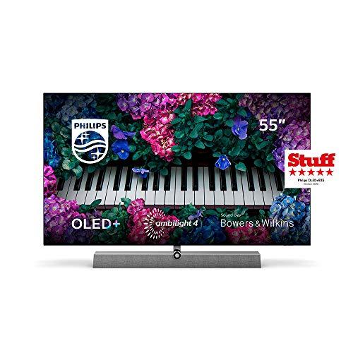 Philips Ambilight TV 55OLED935/12 OLED TV 55 Pulgadas con Sonido de Bowers & Wilkins (P5 Engine con IA, 4K UHD, Dolby Vision∙Atmos, Android TV, HDR 10+, Control por Voz) [Modelo de 2020/2021]