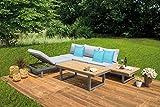 greemotion luxus lounge set auf terasse aufgestellt