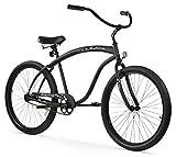 Firmstrong Bruiser Man Single Speed Beach Cruiser Bicycle, 26-Inch, Matte Black