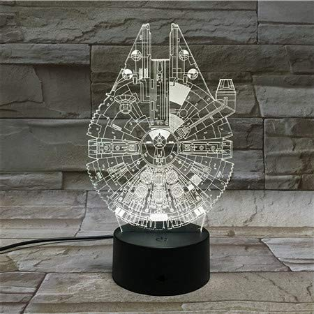 Lampara LED Star Wars Halcón Milenario Cambia Color USB Luz Nocturna