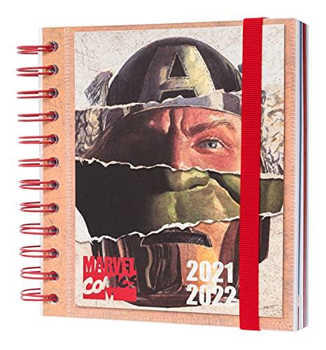 Grupo Erik Agenda Escolar 2021 2022 Marvel - Agenda Escolar 2021-2022 / Agenda 2022 dia por página - Agenda 11 meses desde Agosto de 2021 a Junio de 2022, Producto con licencia oficial, ADPM2104