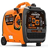 PAXCESS Super Quiet Inverter 2300 Watts Portable Gas Powered RV Generator with Wheels and Handle LCD Display Screen/Eco-Mode/Parallel Ready/CARB Complaint, P2300i