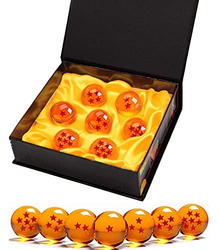 7 Stück Dragon Ball Balls, Dragon Balls 1 bis 7 Sterne mit Geschenkbox, Sammlerstücke für...