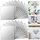 Xinlie Miroirs Carrés Stickers Miroir Adhésif Miroir Autocollant Mural Miroir...