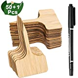 Whaline 50Pcs Étiquettes de Plantes en Bambou avec Un Stylo Marqueur, Plante Tags en...