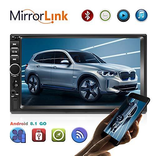 Android 8.1 Autoradio 2 Din Schermo Touch Screen HD 7 Pollici GPS Navigatore Stereo con Bluetooth/Link specchio/FM/AM/USB/TF/AUX IN telecamera per la visione posteriore