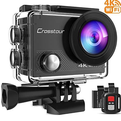 Crosstour Action Cam 4K WiFi 16MP Action Camera Subacquea 30M con Custodia Impermeabile IP68 e...