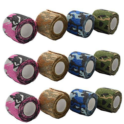 Dancepandas Bendaggio Coesivo, 12 Rotoli Camuffamento Benda Elastica Bendaggio Adesiva Coesiva Benda...