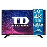 TD Systems K50DLJ11US - Televisores Smart TV 50 Pulgadas 4K Android 9.0 y HBBTV, 1500 PCI Hz UHD HDR, 3X HDMI, 2X USB. DVB-T2/C/S2, Modo Hotel. Televisiones