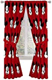 Jay Franco Disney Mickey Mouse Cute Faces 84' inch Drapes 4 Piece Set - Beautiful Room Décor & Easy Set up - Window Curtains Include 2 Panels & 2 Tiebacks (Official Disney Product)