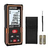 Laser Measure,Meterk 40m Laser Distance Meter Handheld Portable Area Measurement Tool Rangefinde Electronic Bubble Level (40m)