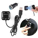 Transmetteur FM Bluetooth, Riloer adaptateur audio de voiture Bluetooth avec...