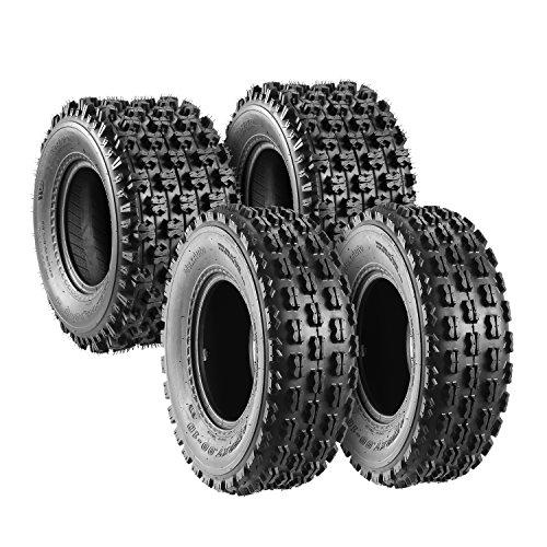 Set of 4 Sport ATV Tires 22x7-10 Front & 20x10-9 Rear UTV Tires 4PR 22x7x10 ATV Quad Tires - 10077/10081