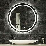 LUVODI Miroir Salle de Bain Rond LED, Miroir Mural avec Éclairage Intégré, 60cm...