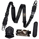 Antila - The Experts Choice - Superior 2 Point Rifle Sling Durable, Adjustable, High Impact Gun Strap with Shoulder Pad and Strong Metal Clips + Bandana and 2 Skill Improvement eBooks