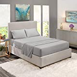 Sale - Clara Clark Premier 1800 Series 4pc Bed Sheet Set - Queen, Silver Light Gray, Hypoallergenic, Deep Pocket