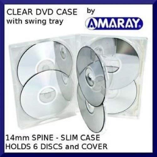 1x custodia per DVD multi 6–6vie portatutto in trasparente per contenere fino a 6dischi in Dragon Trading confezione di marca