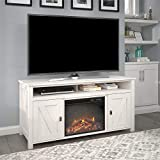 Ameriwood Home Farmington Electric Fireplace Console 60', Ivory Pine TV Stand
