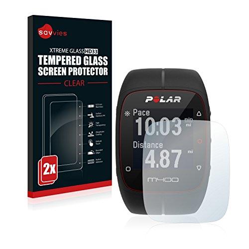 savvies Protector Cristal Templado Compatible con Polar M400 /...