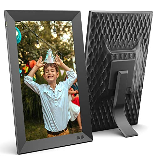 NIX 13.3 Inch USB Digital Photo Frame - Portrait or Landscape Stand, Full HD Resolution, Auto-Rotate, Magnetic Remote Control - Mix Photos and Videos in The Same Slideshow