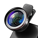 Tycka Kit Lenti Professionali per Fotocamere, Lente 0,45X Grandangolare 120° senza alcuna distorsione, Lente 15x Macro, custodia portatile e panno in...