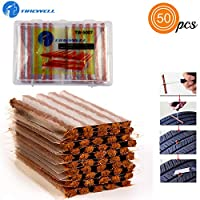 50PCS TIRE REPAIR STRIPS: TIREWELL TW-5007 Tubeless Tire Puncture Repair Rubber Strips Plug comes with 50pcs a box. These sealing strips are an economical and practical option to fix a flat tubeless tire. Easy to install, economical and time-saving, ...