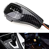 iJDMTOY F30 Style Carbon Fiber Finish LED Illuminated Shift Knob Gear Selector Upgrade Compatible With 06-12 BMW E90 3 Series Sedan, 07-10 E92 E93 3 Series Coupe/Convertible, 09-12 Z4, 10-12 X1, etc