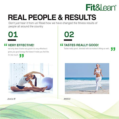 Fit & Lean Meal Shake Fat Burning Meal Replacement with Protein, Fiber, Probiotics and Organic Fruits & Vegetables and Green Tea for Weight Loss, 1lb, Chocolate, 10 Servings Per Container 4