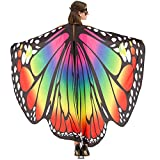 Butterfly Wings for Women Premium Butterfly Shawls Fairy Ladies Cape Nymph Pixie Costume Accessory