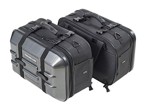 タナックス(TANAX) バイク用サイドバッグ MOTOFIZZ ツアーシェルケース2 (カーボン柄) 容量40ℓ(片側20ℓ) MF...