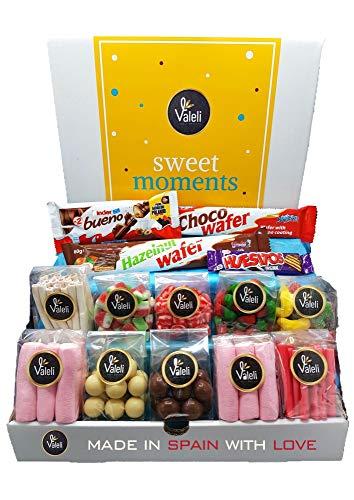 Valeli, Chocolates y Golosinas Cesta dulces y chocolatinas, Caja Regalo Original:...