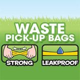 Bags on Board Odor Control Dog Poop Bags and Dispenser | Strong, Leak Proof Dog Waste Bags | Ocean Breeze Scent | 9 x14 Inches,140 Waste Pickup Bags (3203940043)