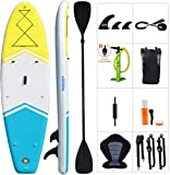 Zupapa 10.6'/11' Inflatable Stand Up Paddle Board with Kayak Convertible Seat and Premium SUP Accessories for Adults and Youth Touring Sup (10ft32in6in)