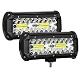 AUZKIN 7 Inches LED Light Bar Submersible driving lights 240W 24000lm LED Pods Spot Flood Combo Beam...