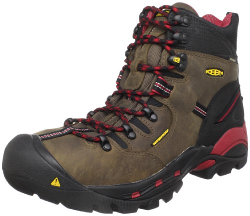 KEEN Utility mens Pittsburgh 6' Steel Toe Work Boot, Bison Brown/Red, 9.5D