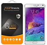 (2 Pack) Supershieldz for Samsung Galaxy Note 4 Tempered Glass Screen Protector, Anti Scratch, Bubble Free