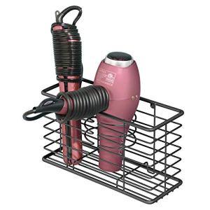 mDesign Farmhouse Metal Wire Bathroom Wall Mount Hair Care & Styling Tool Organizer Storage Basket for Hair Dryer, Flat… 11