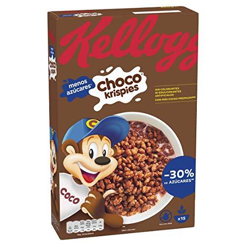 Kellogg's Choco Krispies - Cereales de arroz inflado con cac
