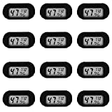 12 Pack Mini Digital Electronic Thermometer Hygrometer, Indoor Thermometer, Hygrometer LCD Display Fahrenheit (Fahrenheit), Suitable for humidifiers, greenhouses, Gardens, basements