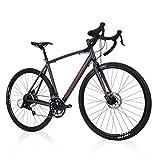 Royce Union Men's Gravel Bike Aluminum, 18 Speed, 700c Tires, Matte Denim Blue, RGF (76989)