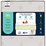Serta Perfect Start Supreme Fiber Core/Memory Foam Crib and Toddler Mattress | Waterproof | GREENGUARD Gold Certified | Trusted 35 Year Warranty | Made in The USA