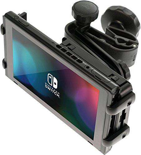 """honju Game - Nintendo Switch Autohalterung (Made in Germany) (Vibrationssicher, Zugang zum Ladeanschluss, Keine Behinderung der Abluft, Auch passend für Tablets mit max. 11,5""""), 61472"""
