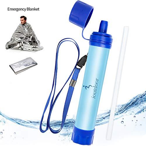 ioutdoor Paille Filtre Eau Personnel sans BPA avec Urgence...