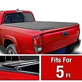 MaxMate Soft Tri-Fold Truck Bed Tonneau Cover for 2019-2020 Toyota Tacoma   Fleetside 5' Bed
