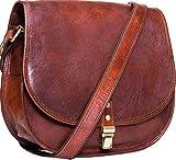 Urban Leather Sac à bandoulière pour femme et adolescente Marron 30 cm