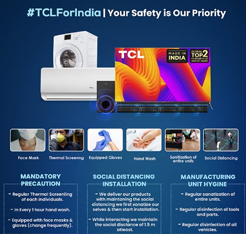 51tcyuNoNCS TCL 163.9 (65 inches) 4K Extremely HD Licensed Android Good QLED TV 65C725 (Black) (2021 Mannequin) | With Video Name Digicam